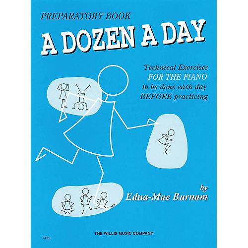 Hal Leonard A Dozen A Day Preparatory Book Technical Exercises For Piano (Blue cover)