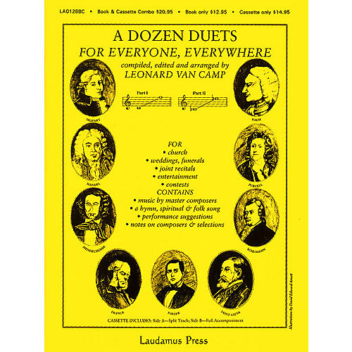 Laudamus Press A Dozen Duets - Vocal Duets (Compiled, edited and arranged by Leonard van Camp) by Leonard Van Camp
