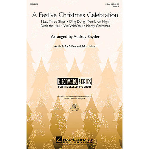 Hal Leonard A Festive Christmas Celebration VoiceTrax CD Arranged by John Moss