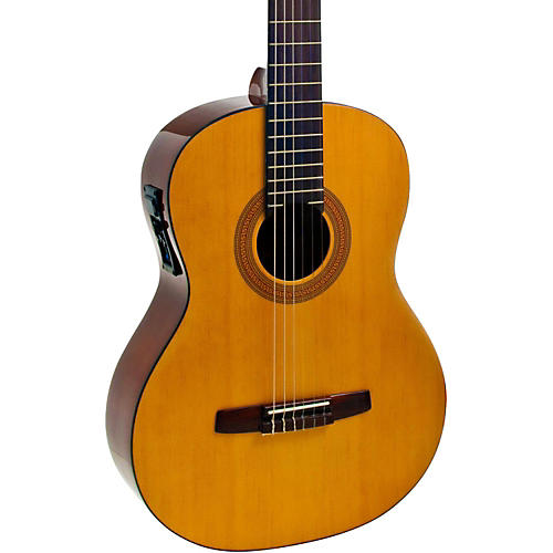hohner a full size nylon string acoustic electric guitar musician 39 s friend. Black Bedroom Furniture Sets. Home Design Ideas