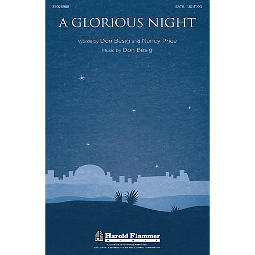Shawnee Press A Glorious Night SATB composed by Don Besig