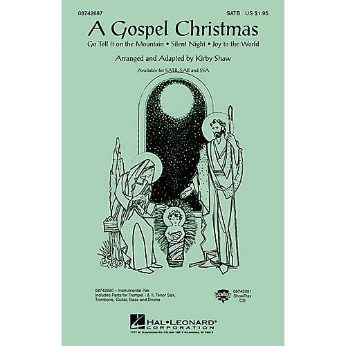 Hal Leonard A Gospel Christmas (Medley) ShowTrax CD Arranged by Kirby Shaw