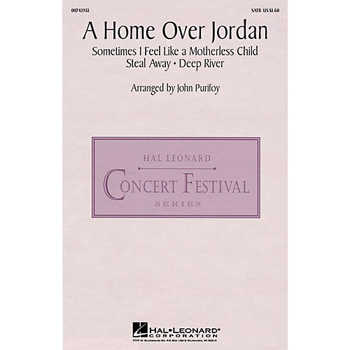 Hal Leonard A Home Over Jordan SATB arranged by John Purifoy
