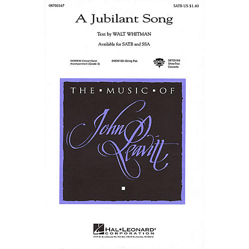 Hal Leonard A Jubilant Song SATB composed by John Leavitt