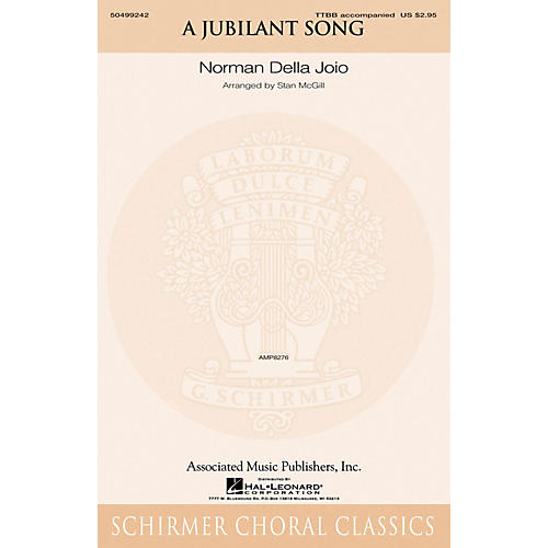 G. Schirmer A Jubilant Song TTBB arranged by Stan McGill