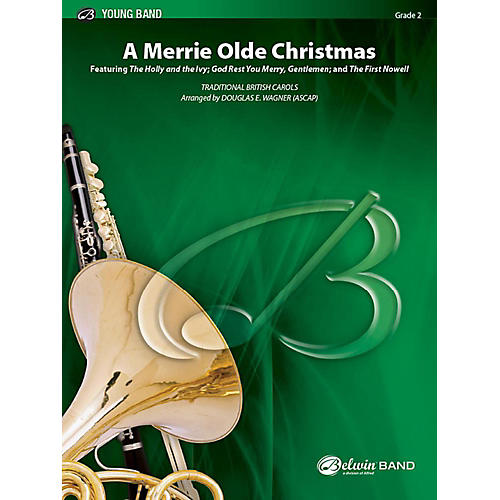 Alfred A Merrie Olde Christmas Concert Band Grade 2 Set