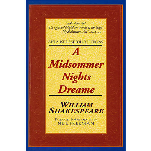 Applause Books A Midsommer Nights Dreame Applause Books Series Softcover Written by William Shakespeare