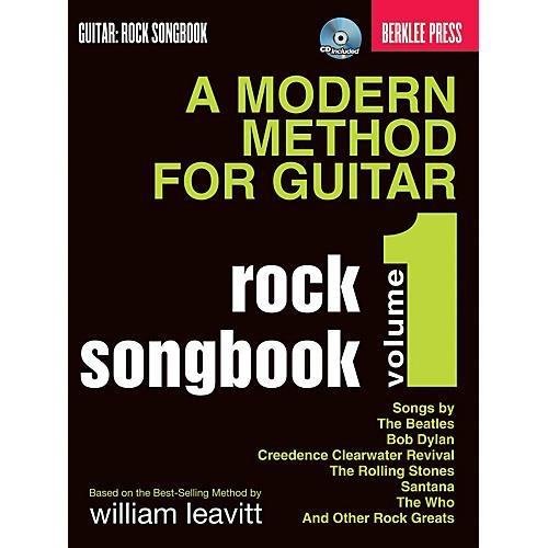 Hal Leonard A Modern Method For Guitar Rock Songbook Volume 1 Book/CD