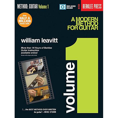 Berklee Press A Modern Method for Guitar - Volume 1 Guitar Method Series Softcover Video Online by William Leavitt