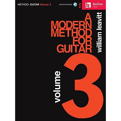 Berklee Press A Modern Method for Guitar - Volume 3 Berklee Press Book/Audio Online