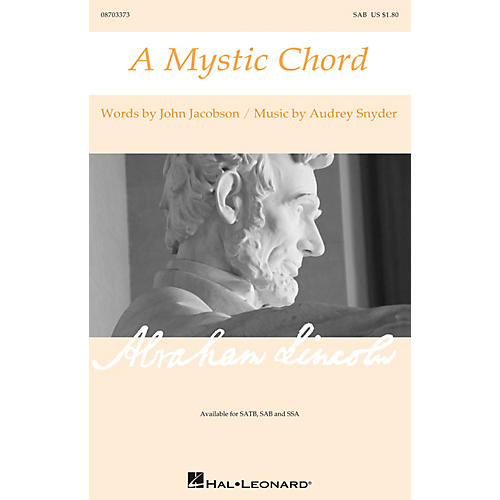Hal Leonard A Mystic Chord SAB composed by Audrey Snyder