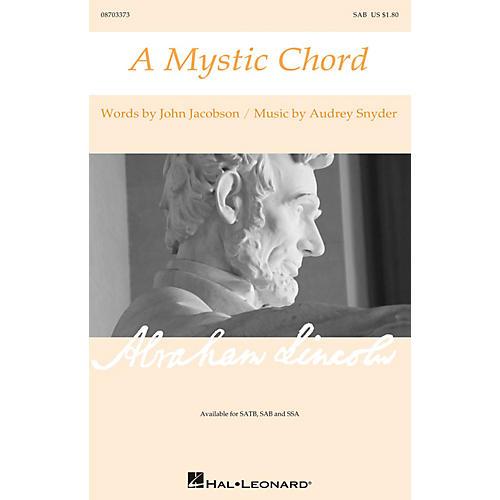 Hal Leonard A Mystic Chord SAB composed by Audrey Snyder
