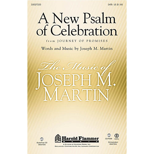 Shawnee Press A New Psalm of Celebration (From Journey of Promises) Studiotrax CD Composed by Joseph M. Martin
