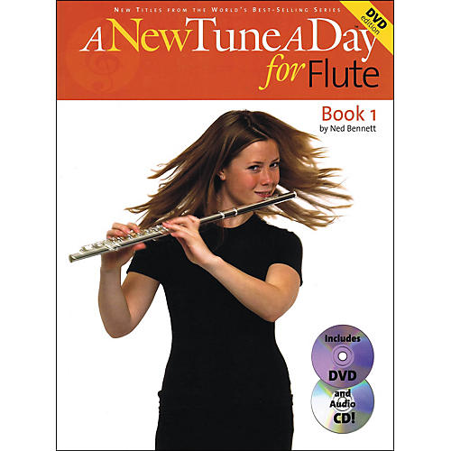 Music Sales A New Tune A Day for Flute Book 1 with Audio CD And DVD