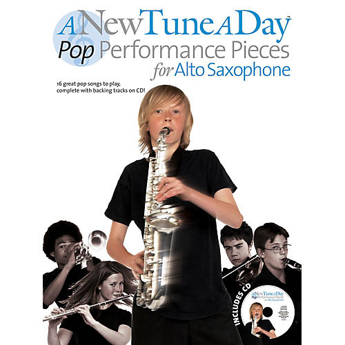 Music Sales A New Tune a Day - Pop Performances for Alto Saxophone Music Sales America Series Book with CD