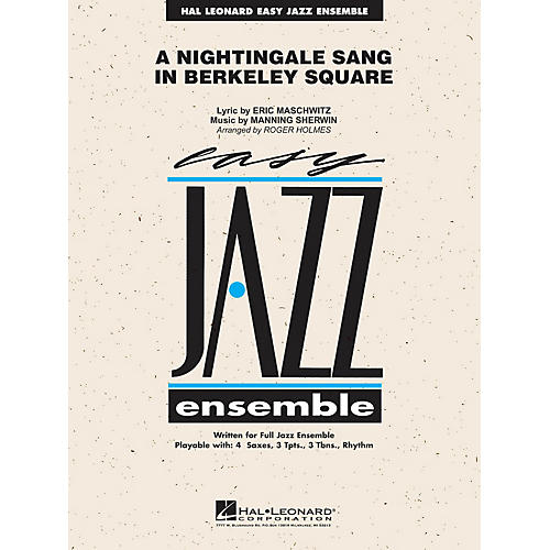 Hal Leonard A Nightingale Sang in Berkeley Square Jazz Band Level 2 Arranged by Roger Holmes