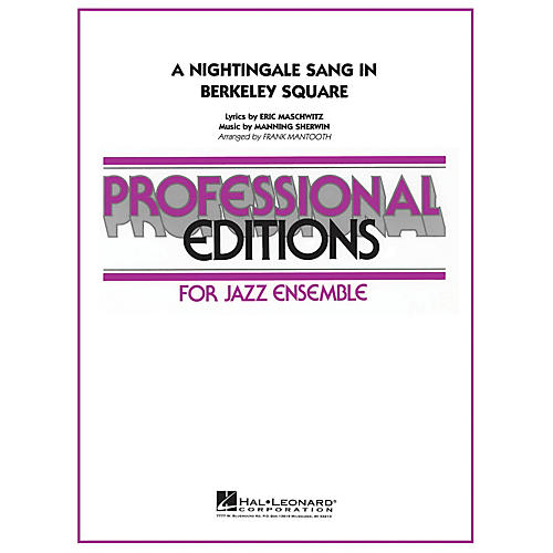 Hal Leonard A Nightingale Sang in Berkeley Square Jazz Band Level 5 Arranged by Frank Mantooth