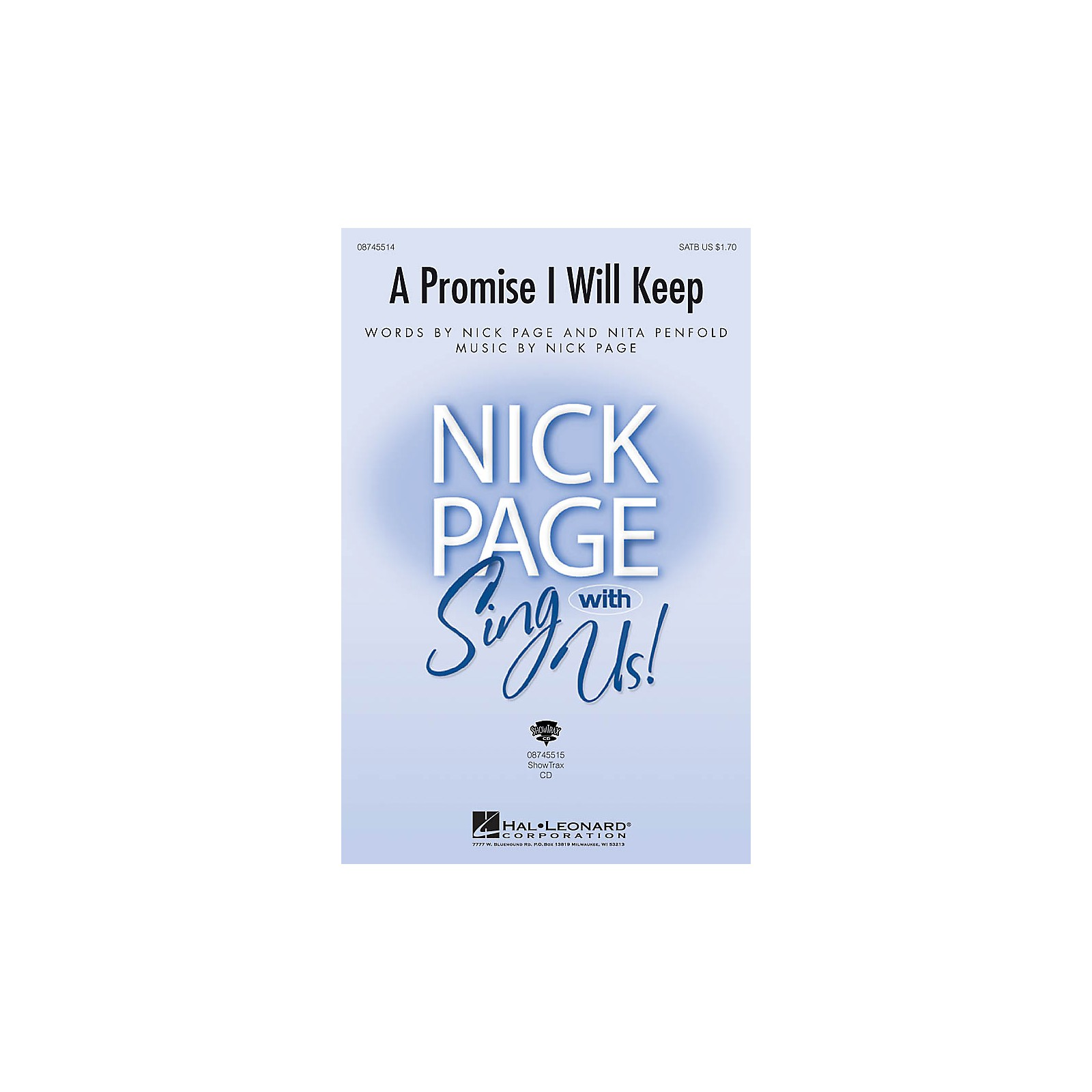 Hal Leonard A Promise I Will Keep ShowTrax CD Composed by Nick Page