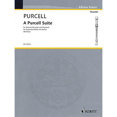 Hal Leonard A Purcell Suite: Seven (7) Pieces For Descant Recorder And Keyboard Woodwind Series