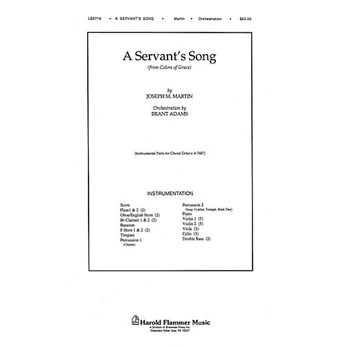 Shawnee Press A Servant's Song (from Colors of Grace) INSTRUMENTAL ACCOMP PARTS composed by Joseph M. Martin
