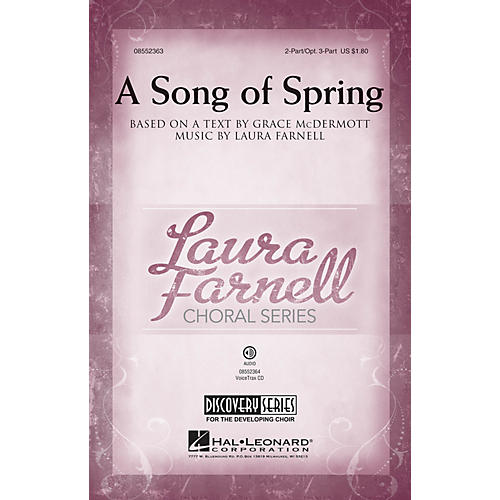 Hal Leonard A Song of Spring (Discovery Level 2) 2-Part (optional 3-Part) composed by Laura Farnell