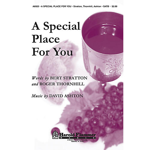 Shawnee Press A Special Place for You SATB composed by David Ashton