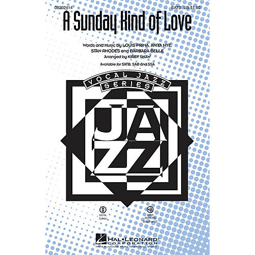 Hal Leonard A Sunday Kind of Love SSA Arranged by Kirby Shaw
