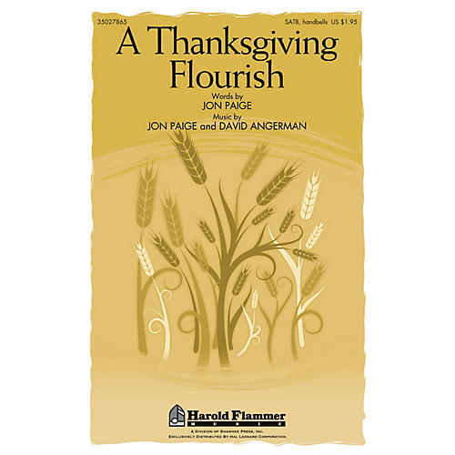 Shawnee Press A Thanksgiving Flourish SATB, ORGAN, HANDBELLS composed by Jon Paige