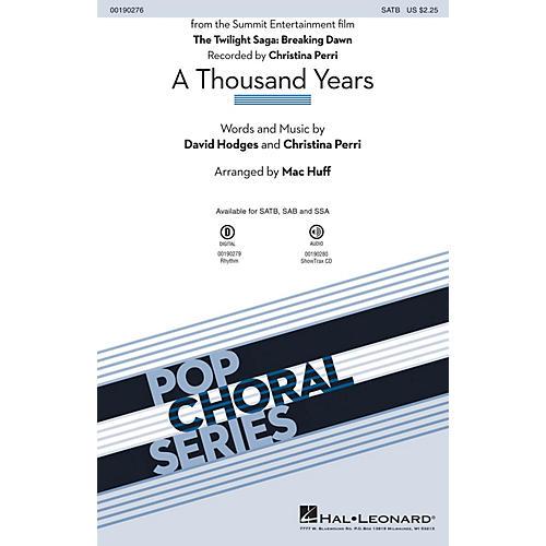 Hal Leonard A Thousand Years SAB by Christina Perri Arranged by Mac Huff