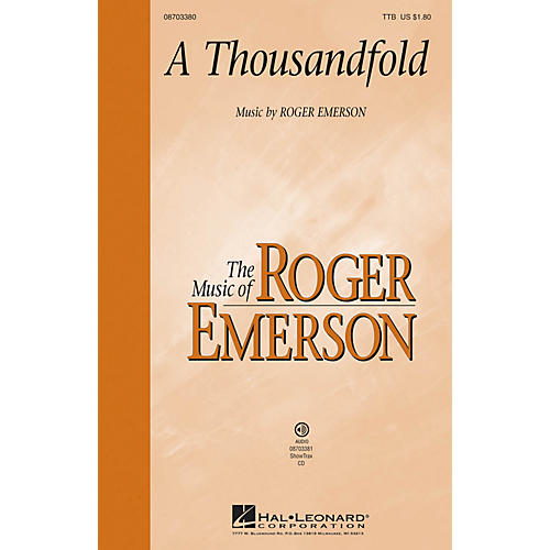 Hal Leonard A Thousandfold ShowTrax CD Composed by Roger Emerson