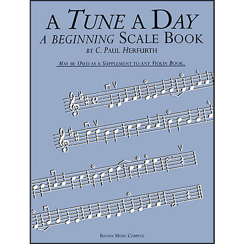 Music Sales A Tune A Day Beginning Scale Book Violin