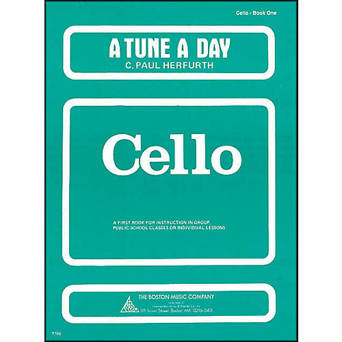 Music Sales A Tune A Day for Cello Book 1