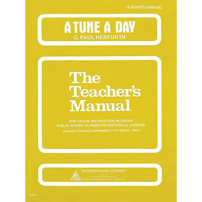Music Sales A Tune a Day - Violin (Teacher's Manual) Music Sales America Series Written by C. Paul Herfurth