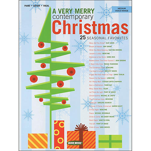 Word Music A Very Merry Contemporary Christmas arranged for medium voice