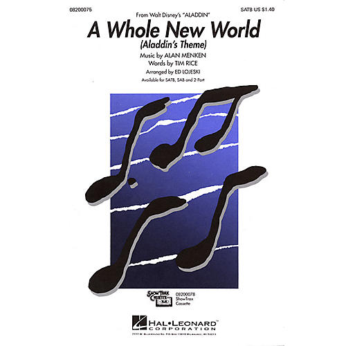 Hal Leonard A Whole New World - Aladdin's Theme (from Aladdin) SAB Arranged by Ed Lojeski