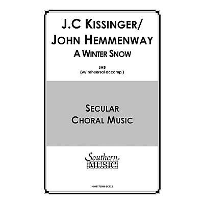 Hal Leonard A Winter Snow (Choral Music/Octavo Secular Satb) SATB Composed by Hemmenway, John