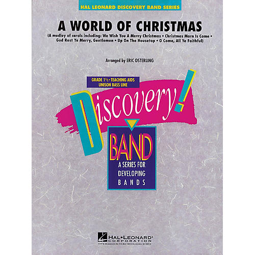Hal Leonard A World of Christmas Concert Band Level 1.5 Arranged by Eric Osterling