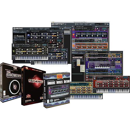 Sample Logic A.I.R. 2.0 & The Elements EXP & Synergy Virtual Instrument Library Software Triple Play Bundle