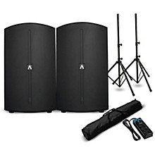 "Avante A12 12"" Powered Speaker Pair and Power Strip"