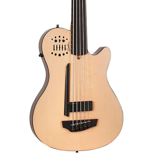 godin a5 ultra bass fretless sa 5 string acoustic electric bass guitar natural ebony fretboard. Black Bedroom Furniture Sets. Home Design Ideas