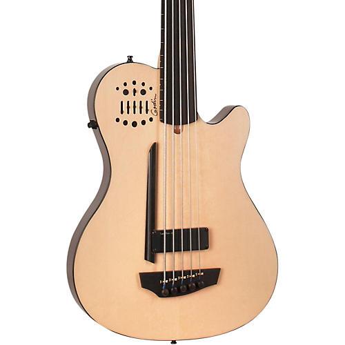 Godin A5 Ultra Bass Fretless SA 5-String Acoustic-Electric Bass Guitar Natural Ebony Fretboard
