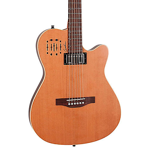 godin a6 ultra semi gloss semi acoustic electric guitar natural cedar musician 39 s friend. Black Bedroom Furniture Sets. Home Design Ideas
