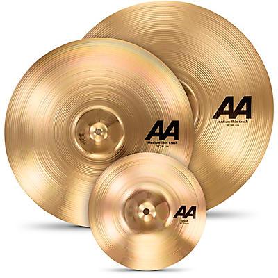 "Sabian AA Crash Cymbal Set with Free 10"" Splash Brilliant"