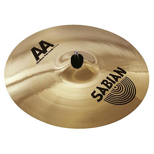 Sabian AA Medium Thin Crash Cymbal (Brilliant)