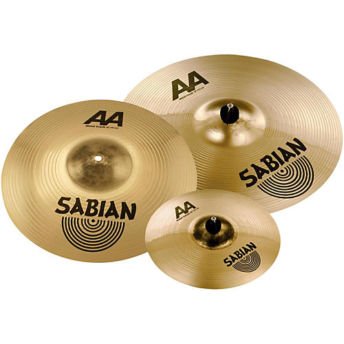sabian aa metal crash pack with free 10 aa metal splash musician 39 s friend. Black Bedroom Furniture Sets. Home Design Ideas