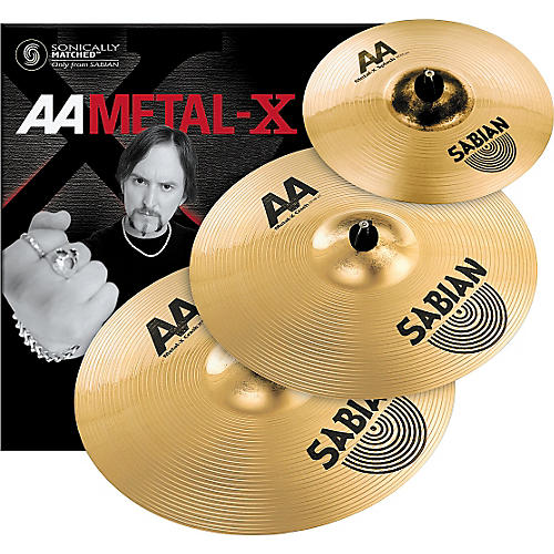 sabian aa metal x crash pack with 19 and 20 cymbals musician 39 s friend. Black Bedroom Furniture Sets. Home Design Ideas