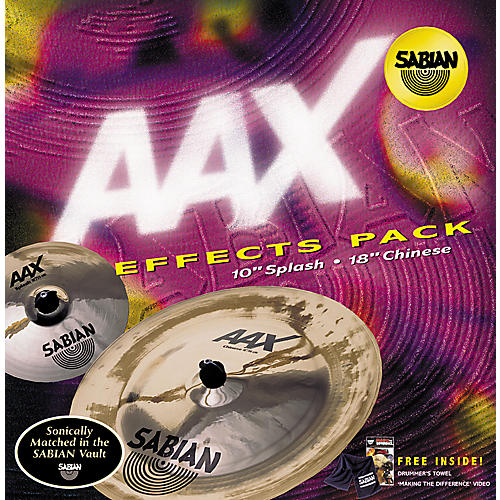 Sabian AAX 2-Piece Effects Cymbal Pack