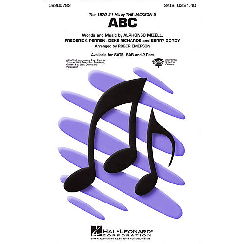 Hal Leonard ABC SATB by The Jackson 5 arranged by Roger Emerson