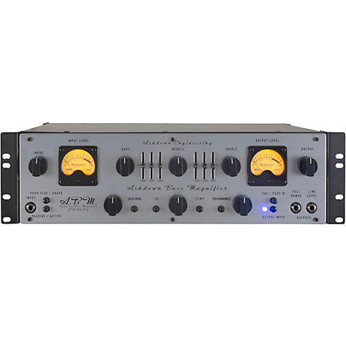 Ashdown ABM600 Dual VU Meter 600W Tube Hybrid Bass Amp Head Gray and Black