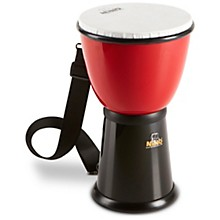 ABS Djembe with Nylon Strap Red/Black 8 in.